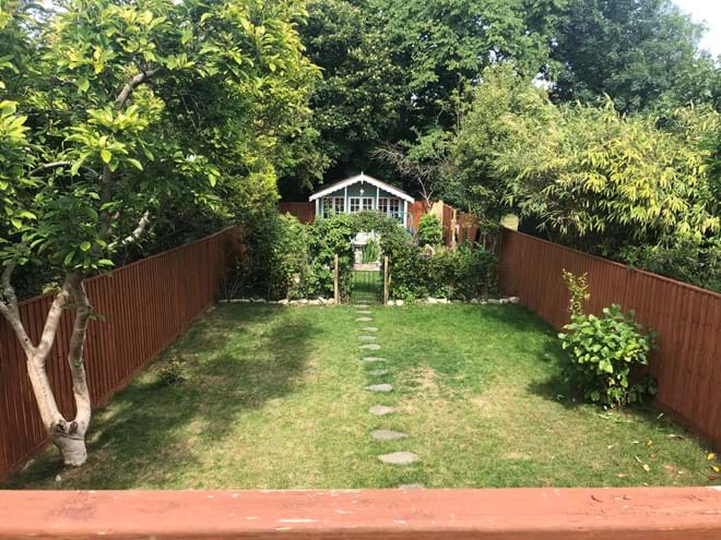 Middle garden for playing in