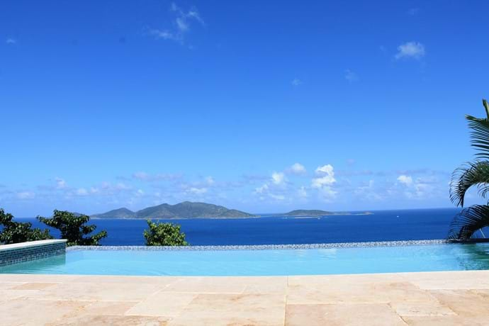 with infinity pool