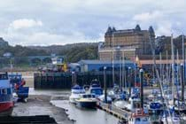 Scarborough Harbour looking towards Grand Hotel