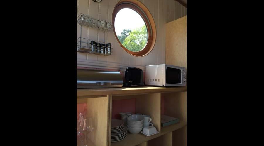Plenty of kitchen storage space