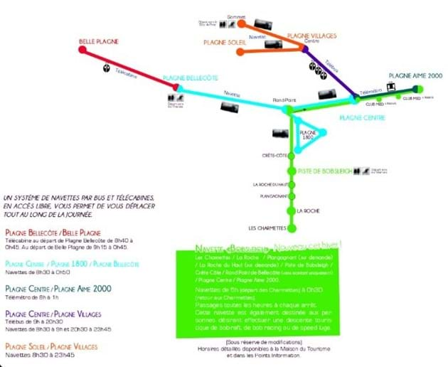 La Plagne Navette Routes