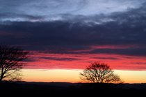 one of many lovely sunrises at Winllan Farm