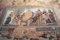 One of the many mosaics to be seen in Paphos