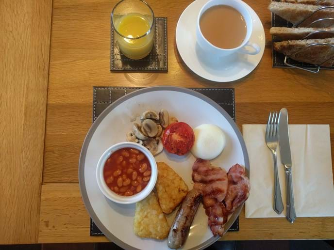 A full farmhouse breakfast to set you on your way