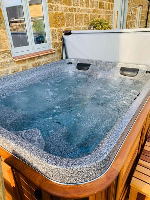 Time to relax in The Stables Hot Tub