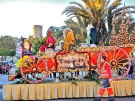 The Three Kings Parade in Puerto de Mazarron