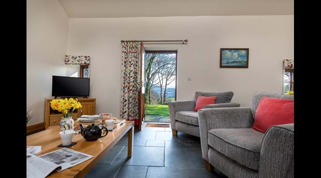 Main living area at Glas y Dorlan holiday cottage Eisteddfa