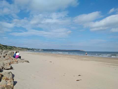 Filey Bay beach.