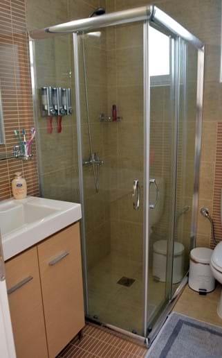 Modern Bath with Enlarged Shower Cabin