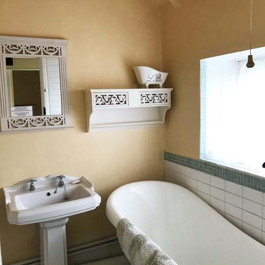 Slipper Bath with Hand Held Shower