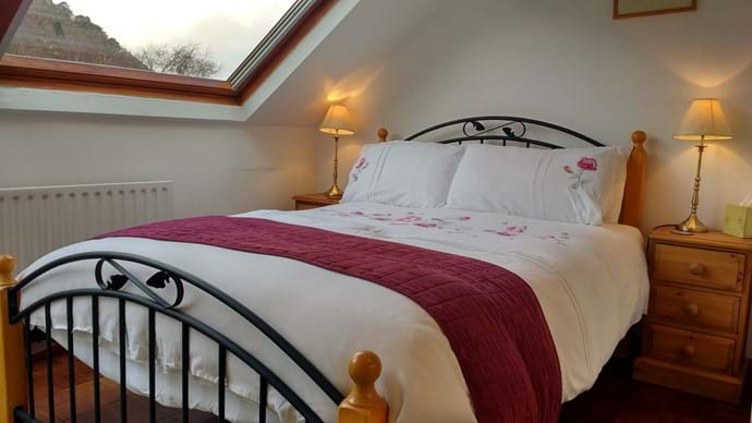 The top floor bedroom with views of Glenridding Dodd and Sheffield Pike