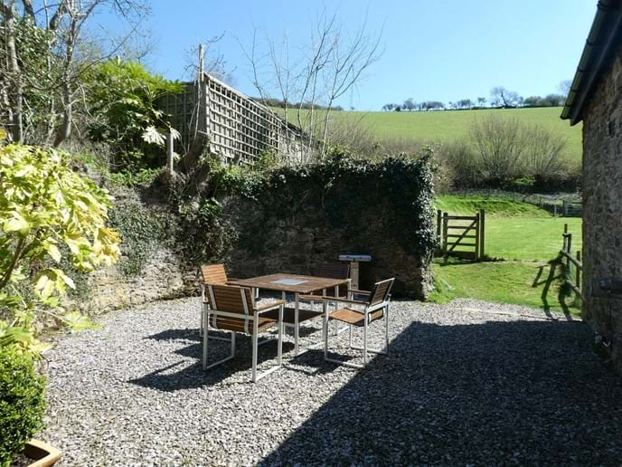 The perfect sunny spot for alfresco breakfast or an evening barbeque