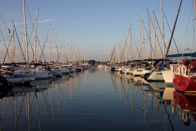Sailing Boats at Lymington Marina