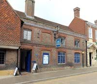 Edenbridge's fantastic museum, there is a Wealden Hall House hiding behind the facade.