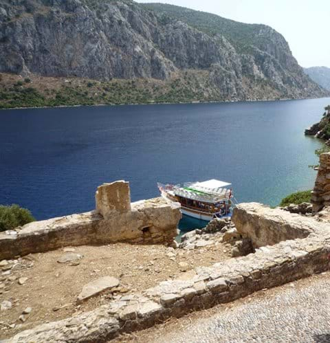 More lovely views from the Monastery, with private day boat in view below