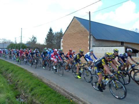 Tour de Sarthe passes our door