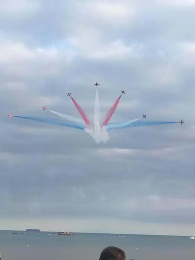 Sidmouth Air Display with The Red Arrows