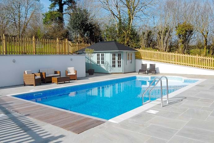 Our heated outdoor pool  (available only April/May to October)