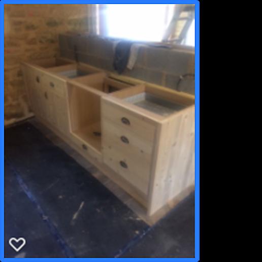Oak Barn - kitchen build