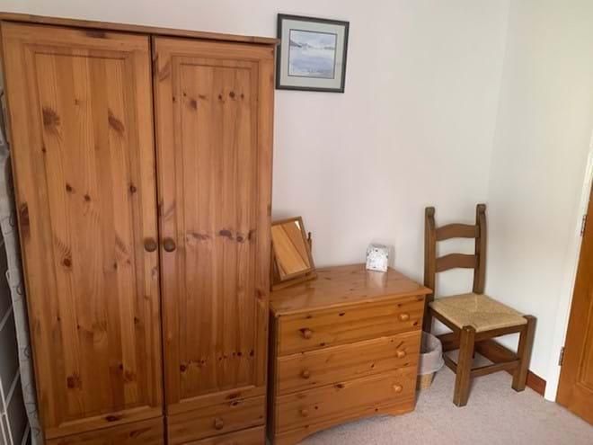 Plenty of storage in the twin bedroom