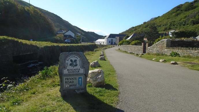 Entrance to Boscastle Harbour