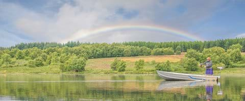 Fishing available for all ages and stages... Private Loch  with You Fish Scotland