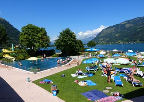 Beach and lakeside pool, Zell am See