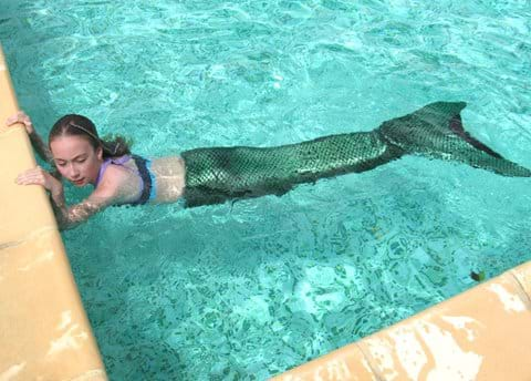 Even mermaids like a quick dip!