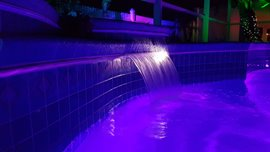 Finer optically lit colour changing Florida Falls