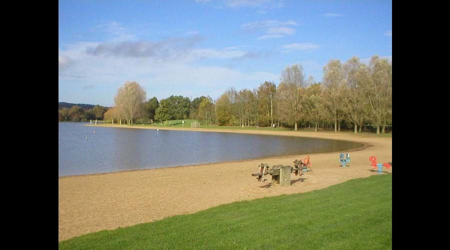 The swimming lake and