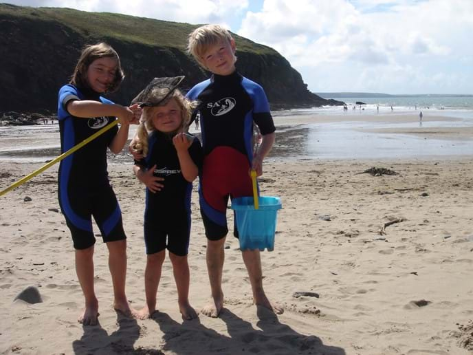 Rockpooling at Nolton