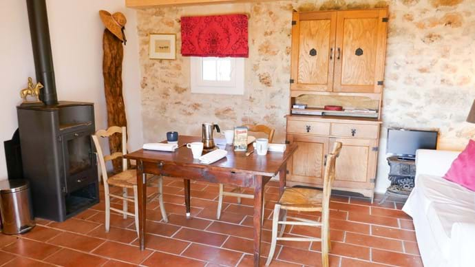 The main room - dining and sitting - at the cabanon