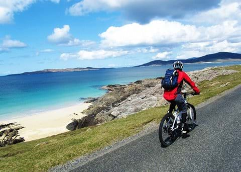 Cycle along The Hebridean Way nr Otter Bay Pods
