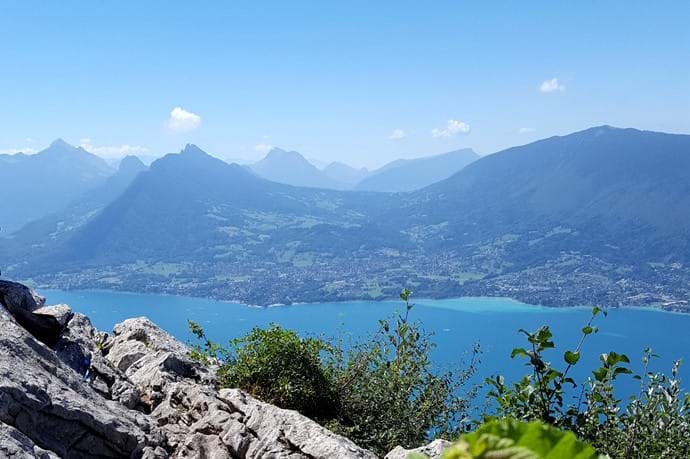 Annecy lake view from Mont Veyrier