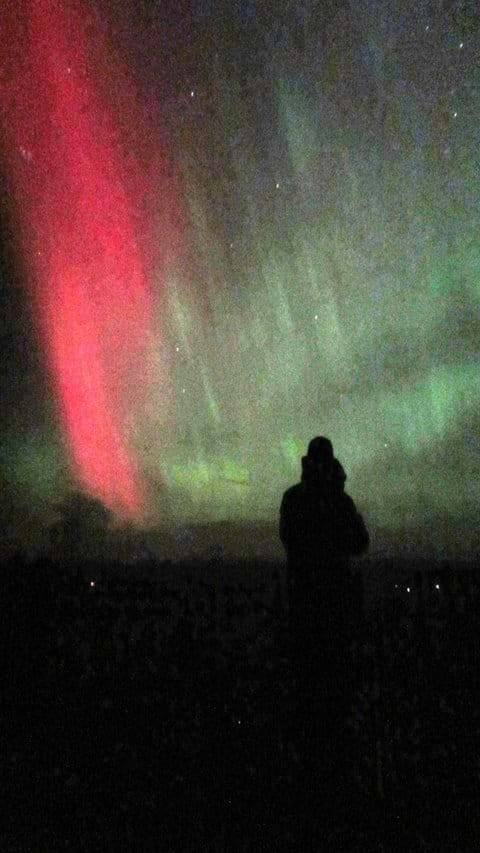 The Northern Lights or Aurora Borealis are sometimes seen over Ardersier
