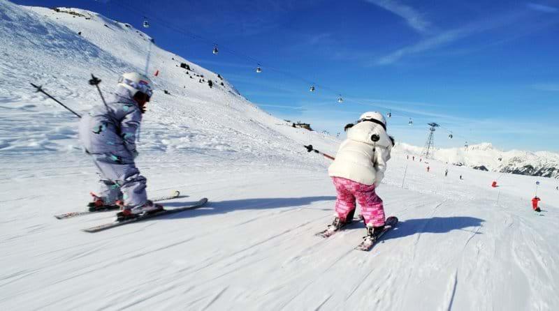 Kids loving the slopes