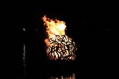 Trellis Bay - sculpture by night
