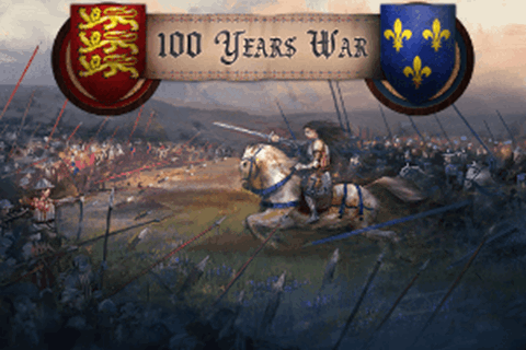England and France at war