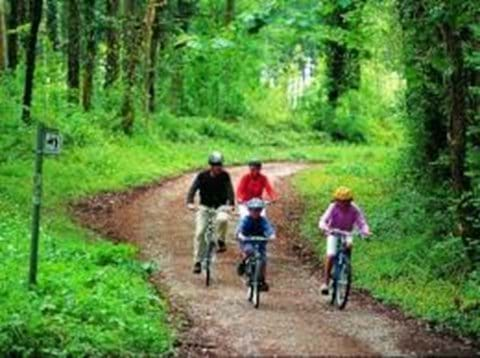 Enjoy the wider area on two wheels