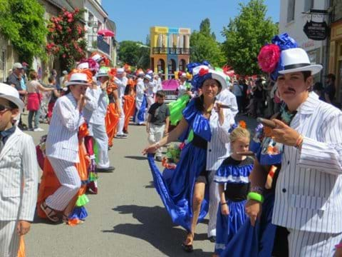 One of the many carnivals in Guemene high street