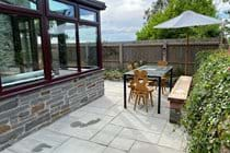 Trysor Holiday Cottage Back Patio