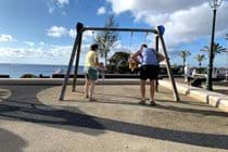 One of the many parks in Costa Teguise