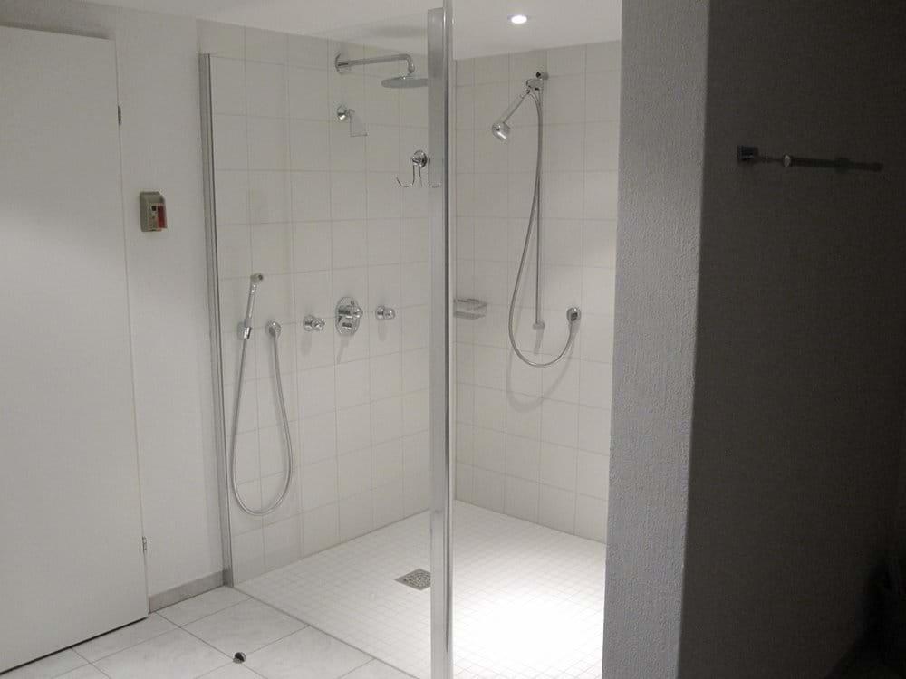 Sauna walk-in shower