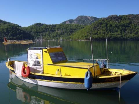 Colourful local fishing boat