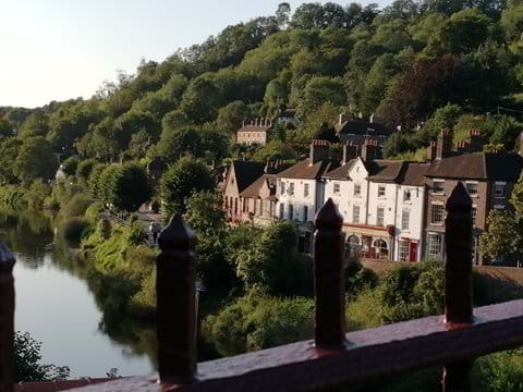 View of Ironbridge View Townhouse - taken from standing on the Iron Bridge