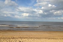 The beach (5 minutes walk)