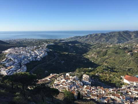 Frigiliana with view down to Nerja and the sea.