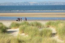 nearby Nairn beach, a very long sandy beach that is dog friendly all year round