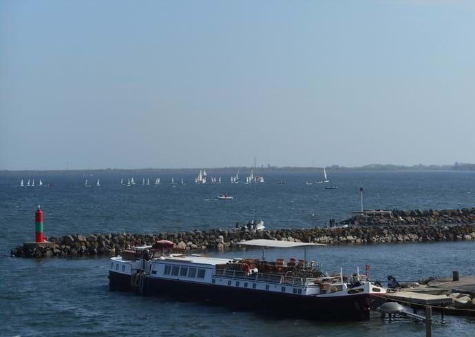 View across Marseillan waterside