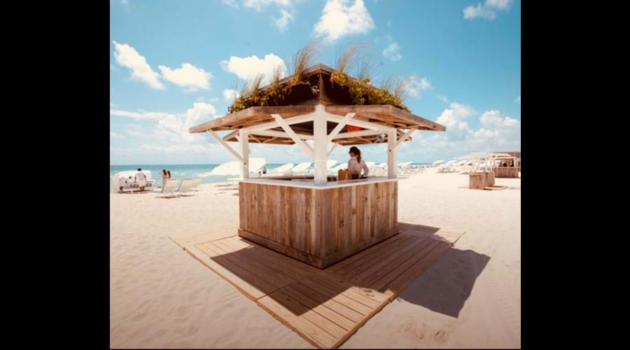 Beach area with full bar and food service